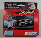 2001 NASCAR Limited Edition #3 Dale Earnhardt GM Goodwrench Playing Cards in Numbered Collector Tin - 2 Packs New In Package