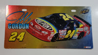 1998 Fan Fueler J.G. Motorsports NASCAR #24 Jeff Gordon DuPont Shiny Gold to Red Fade Plastic Vehicle License Plate Tag
