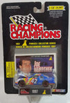 1997 Racing Champions Pinnacle Collector Series Limited Edition NASCAR #42 Joe Nemechek Bell South Chevrolet Monte Carlo White Blue Die Cast Toy Race Car Vehicle with Opening Hood and Trading Card - New in Package Sealed