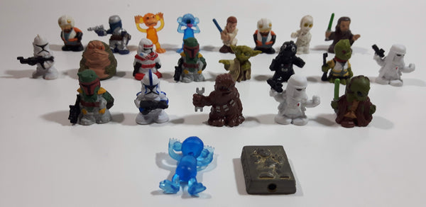 "Star Wars Squinkies 1"" Tall Micro Size Rubber Toy Figures Lot of 22"