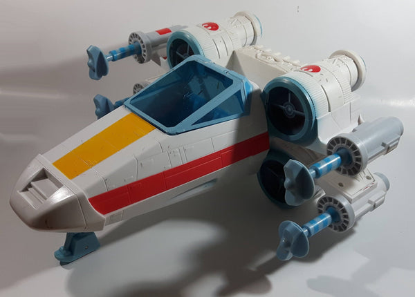 2004 Hasbro Playskool Star Wars Jedi Force LUKE'S X-WING Fighter Starship Toy Plays Music and Lights Up Incomplete