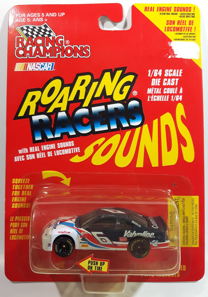 1997 Racing Champions NASCAR Roaring Racers Sounds #6 Mark Martin Havoline Texaco Ford Taurus White Blue Die Cast Toy Race Car Vehicle - New in Package Sealed