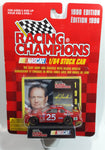 1996 Edition Racing Champions NASCAR #25 Ken Schrader Hendrick Motorsports Pedigree Chevrolet Monte Carlo Red Die Cast Toy Race Car Vehicle with Collector Card and Display Stand - New in Package Sealed