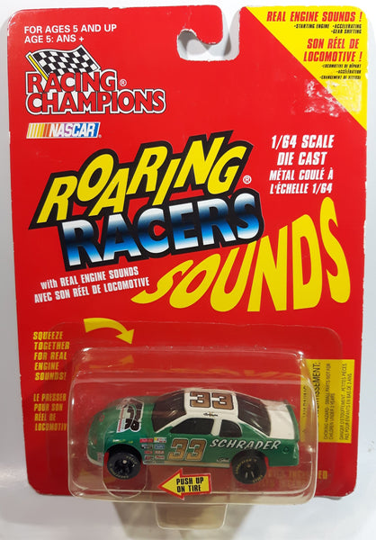 1997 Racing Champions NASCAR Roaring Racers Sounds #33 Kyle Schrader APR Andy Petree Racing Chevrolet Monte Carlo Green and White Die Cast Toy Race Car Vehicle - New in Package Sealed