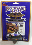 1994 Racing Champions Brickyard 400 Indianapolis Motor Speedway Inaugural Race NASCAR #94 Chevy Lumina White Die Cast Toy Race Car Vehicle with Trading Card and Display Stand - New in Package Sealed