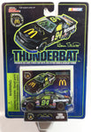 1995 Edition Racing Champions NASCAR #94 Bill Elliot Ford Thunderbird Thunderbat Batman Forever McDonald's Racing Team Black Die Cast Toy Race Car Vehicle with Trading Card and Display Stand - New in Package Sealed