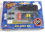 2003 Action Racing NASCAR Winner's Circle #24 Jeff Gordon DuPont Chevrolet Monte Carlo Blue and Orange Die Cast Toy Race Car Vehicle Kit New in Box