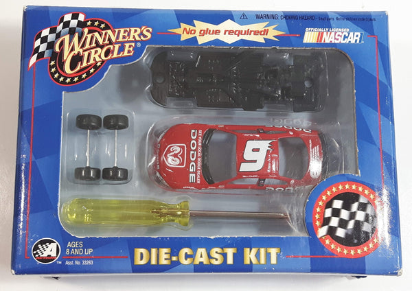 2002 Action Racing NASCAR Winner's Circle #9 Bill Elliot Dodge Intrepid Red Die Cast Toy Race Car Vehicle Kit New in Box