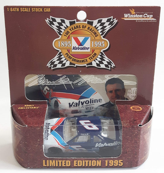 1995 Limited Edition Action Racing Winston Cup Collectible Valvoline 100 Years of Racing NASCAR #6 Mark Martin Ford Taurus White and Blue Die Cast Race Car Vehicle - New in Box
