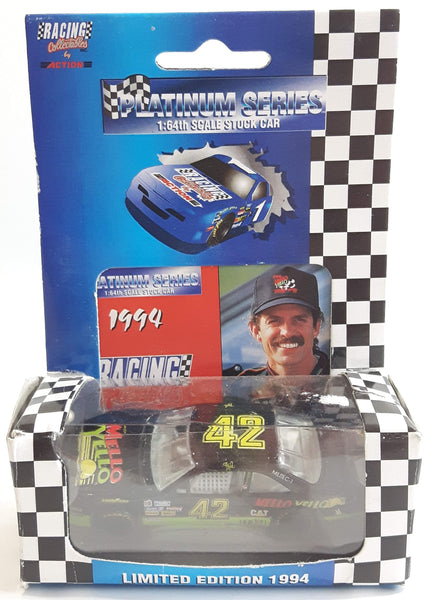 1994 Limited Edition Action Racing Platinum Series NASCAR #42 Kyle Petty Mello Yello Pontiac Grand Prix Black Die Cast Race Stock Car Vehicle - New in Box
