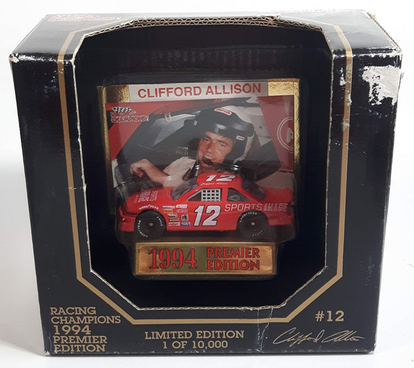 1994 Racing Champions Premier Edition NASCAR #12 Clifford Allison Sports Image Chevrolet Lumina Red Die Cast Race Car Vehicle - New in Box