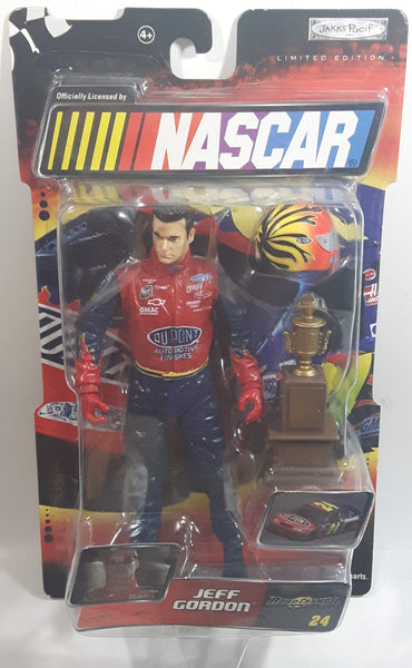 "2003 Jakks Pacif Road Champs NASCAR #24 Jeff Gordon DuPont 6"" Tall Toy Race Car Driver Figure with Accessories"