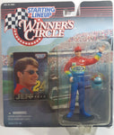 "1997 Kenner Hasbro Starting Lineup Winner's Circle NASCAR #24 Jeff Gordon DuPont 4 1/2"" Tall Toy Race Car Driver Figure with Helmet and Collector Card New in Package"