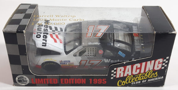 1995 Action Racing Collectibles Club of America Limited Edition 1 of 10,080 NASCAR Winston Cup Collectables #17 Darrell Waltrip 1995 Monte Carlo Western Auto Silver, White, and Blue Die Cast Race Car Vehicle - New in Box