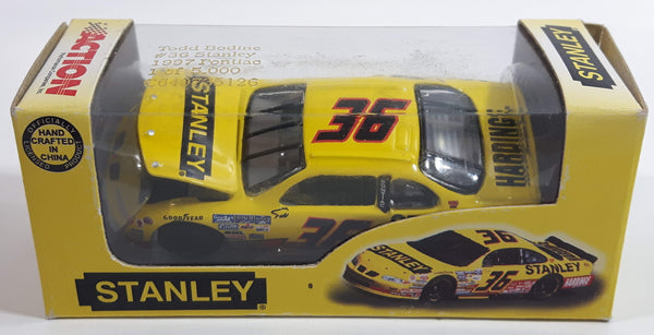 1997 Action Racing Limited Edition 1 of 5,000 NASCAR #36 Todd Bodine 1997 Pontiac Grand Prix Stanley Yellow Die Cast Race Car Vehicle - New in Box