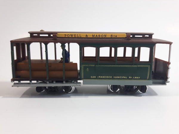 HO Classic San Francisco Streetcar Powell & Mason St Trolley Cable Car Die Cast and Plastic Model