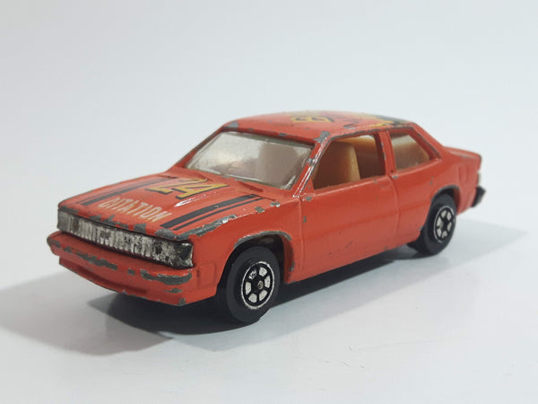 "Yatming Chevrolet Citation ""Boom"" #24 Orange No. 1032 Die Cast Toy Racing Car Vehicle"