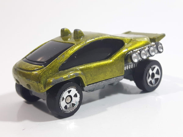 1999 Hot Wheels Trail Runner Lime Green Die Cast Toy Car Vehicle McDonald's Happy Meal 15/16