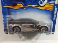 2002 Hot Wheels Pontiac Rageous Metalflake Silver Die Cast Toy Car Vehicle New in Package