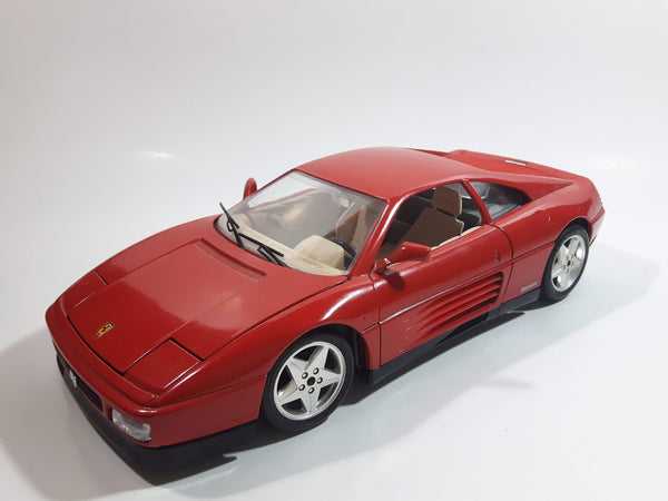 Burago 1989 Ferrari 348 TB Red 1/18 Scale Die Cast Toy Car Vehicle