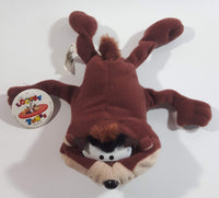 "1996 Warner Bros Looney Tunes Taz Tasmanian Devil Cartoon Character 6"" Plush with Tags"