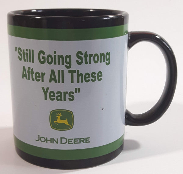 "Enesco John Deere ""Still Going Strong After All These Years"" Black Ceramic Coffee Mug Cup"