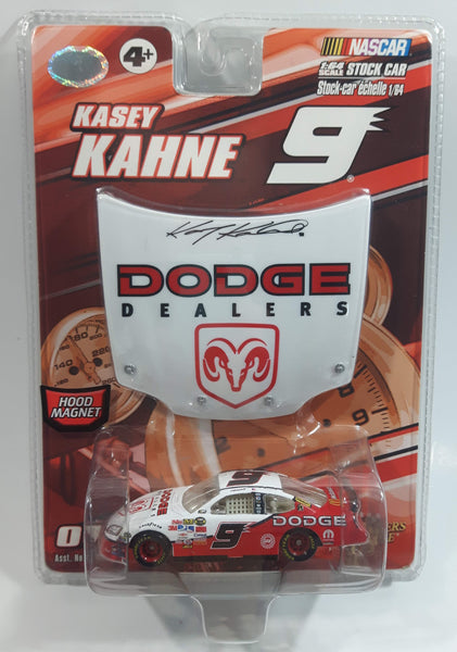 2007 Action Racing NASCAR Winner's Circle Autographed Hood Series #9 Kasey Kahne Dodge Dealers Dodge Charger White and Red Die Cast Toy Race Car Vehicle with Hood Magnet - New in Package Sealed