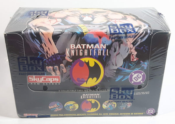 1993 SkyBox Skycaps DC Comics Batman Knightfall 36 Packs (6 Caps Per Pack) Factory Sealed Box