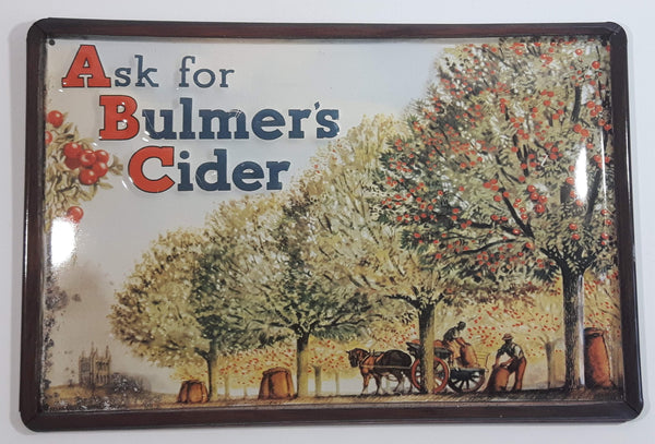 "Vintage Style ABC Ask For Bulmer's Cider 8"" x 11 3/4"" Embossed Tin Metal Sign"