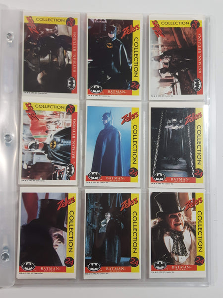 1992 Zellers DC Comics Batman Returns 24 Trading Cards Full Set