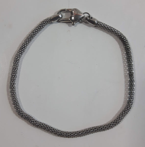 "Small 8"" Metal Chain Bracelet with Heart Clasp"