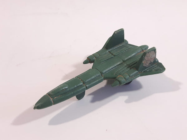 Fighter Jet Army Green Plastic Toy Airplane Aircraft Vehicle