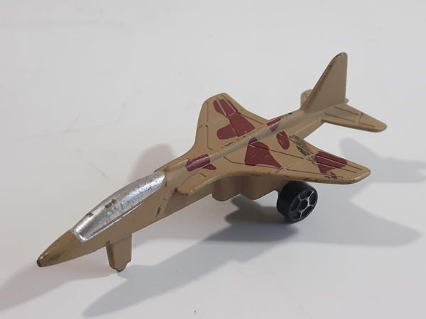Fighter Jet Army Tan Brown Camouflage Die Cast Toy Airplane Aircraft Vehicle