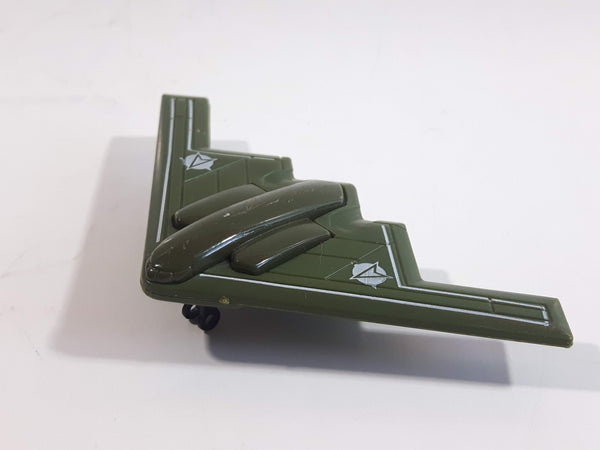 Greenbrier Stealth Bomber Fighter Jet Army Green Die Cast Toy Airplane Aircraft Vehicle