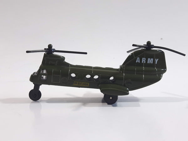Unknown Brand No. 6007 69 BDE 2ADA Military Helicopter Dark Army Green Die Cast Toy Aircraft Vehicle