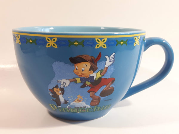 Disney Store Pinocchio Cartoon Character Blue Over Sized Ceramic Coffee Mug