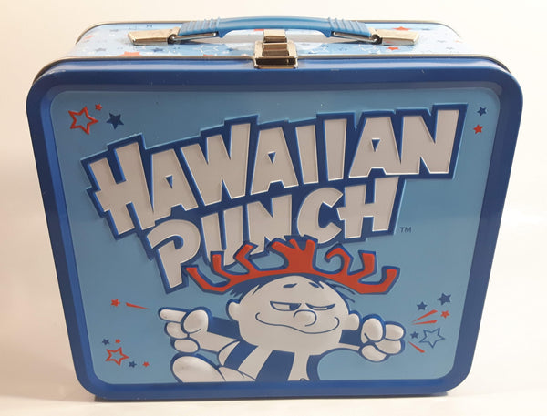 2010 Hawaiian Punch Beverage Drink Embossed Blue Tin Metal Lunch Box