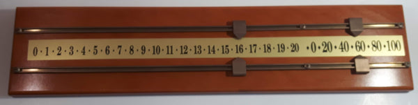 "Wood Pool Snooker Billiards Scoreboard 24"" Long"