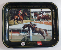 Vintage 1980 Coca-Cola Limited Edition Alberta 75th Anniversary 75th Normandeau Cup Red Deer, Alberta Green Metal Beverage Tray