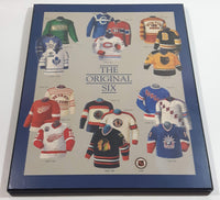 "NHL Ice Hockey The Original Six Team Jersey History 8"" x 10"" Hardboard Wall Plaque"