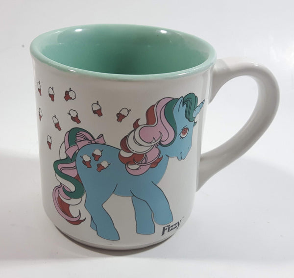 Vintage 1986 Hasbro My Little Pony Fizzy Mint Green and White Ceramic Coffee Mug