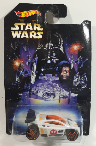 2014 Hot Wheels Disney Star Wars 5/8 V SpecTyte White Die Cast Toy Car Vehicle New in Package