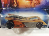 2014 Hot Wheels Disney Star Wars 4/8 IV Motoblade Metallic Gold Die Cast Toy Car Vehicle New in Package