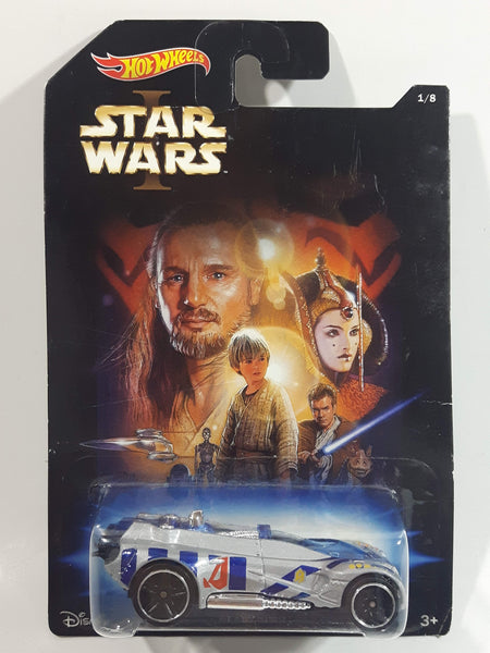 2014 Hot Wheels Disney Star Wars 1/8 I Gearonimo Silver Die Cast Toy Car Vehicle New in Package