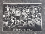 "1995 NHL NHLPA Vancouver Canucks Quintology Collection Ice Hockey Team ""Building A Dream"" Construction Themed Print 11"" x 13"" Sports Collectible"