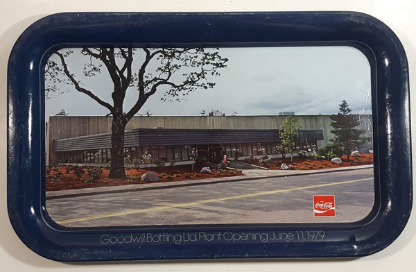 Vintage 1979 Coca-Cola Goodwill Bottling Ltd Plant Opening June 11, 1979 Blue Metal Beverage Tray