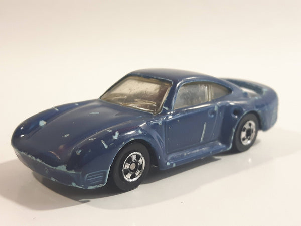 1988 Hot Wheels Auto Magic II Porsche 959 Blue Teal Die Cast Toy Race Car Vehicle