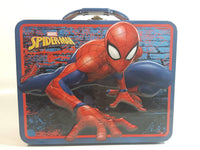 2017 Marvel Spider-Man Embossed Tin Metal Lunch Box