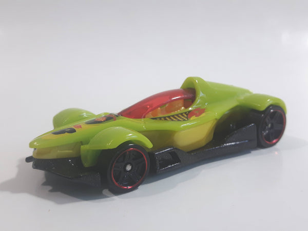 2012 Hot Wheels Code Cars Formula Street Lime Green Yellow and Black Die Cast Toy Race Car Vehicle