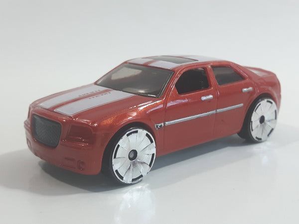 2009 Hot Wheels Track Stars Chrysler 300C Hemi Red Die Cast Toy Car Vehicle